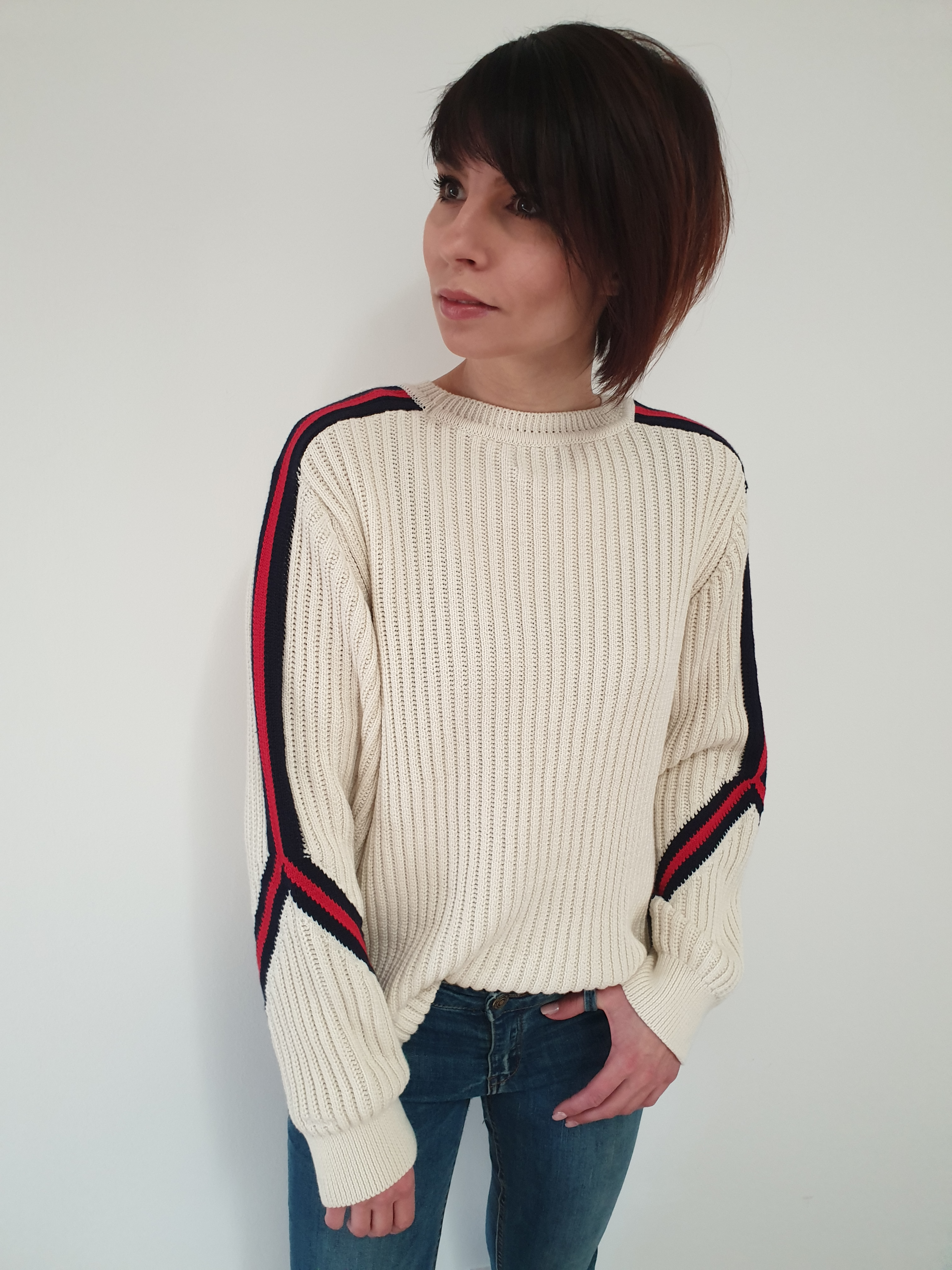 GANT Strickpullover Striped Sleeve