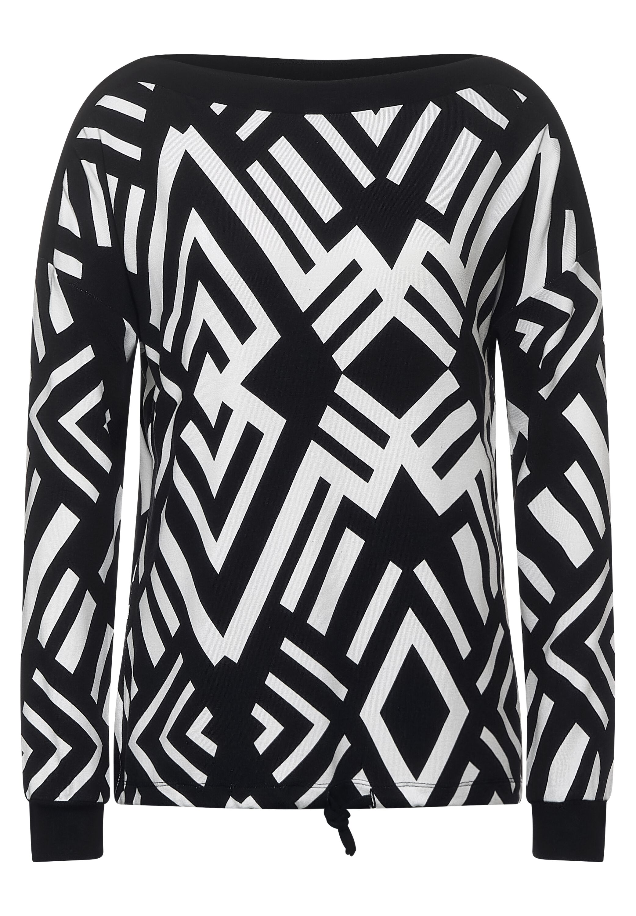 Street One Pullover Black Geometric