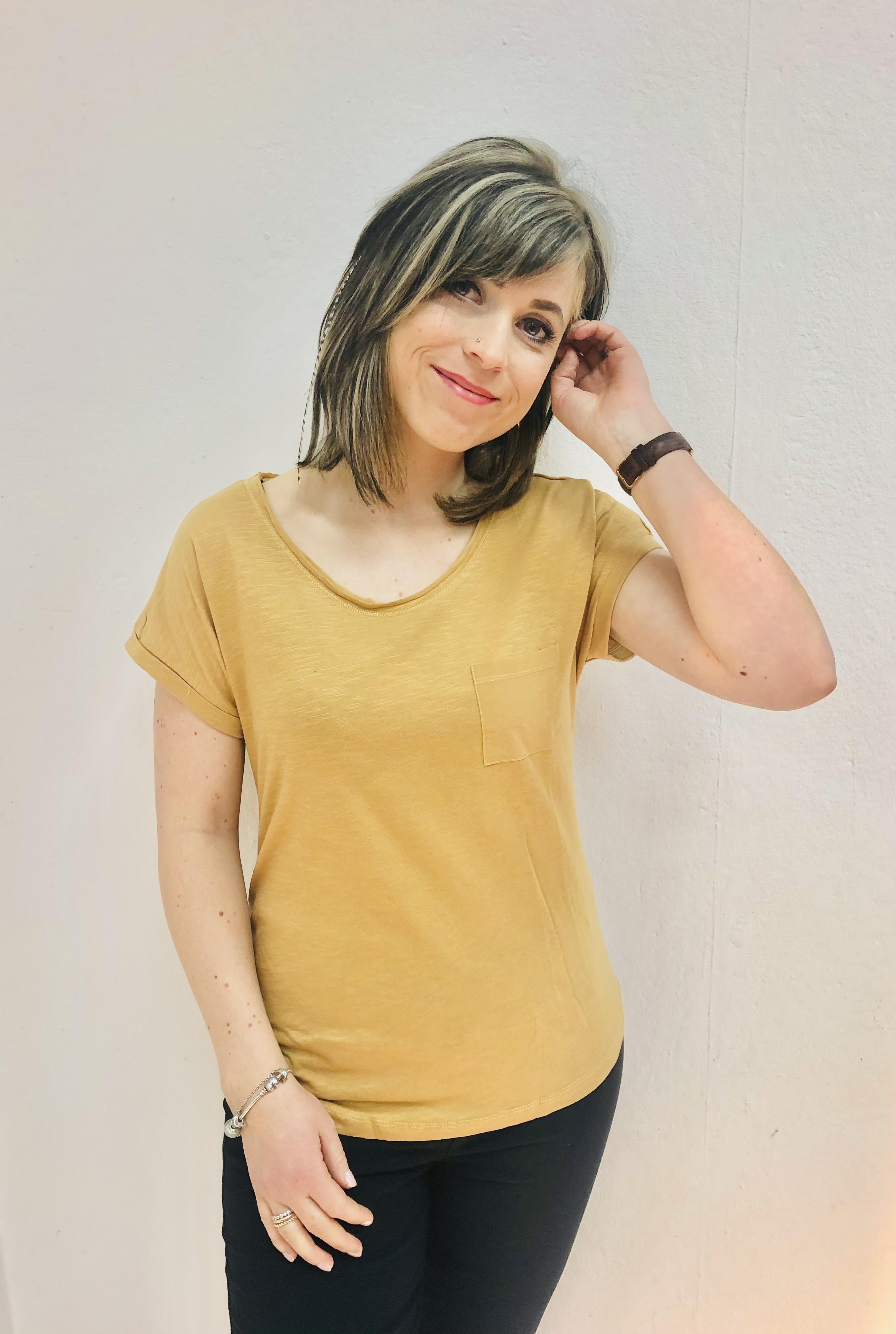 Basic Damenshirt Lilie beige