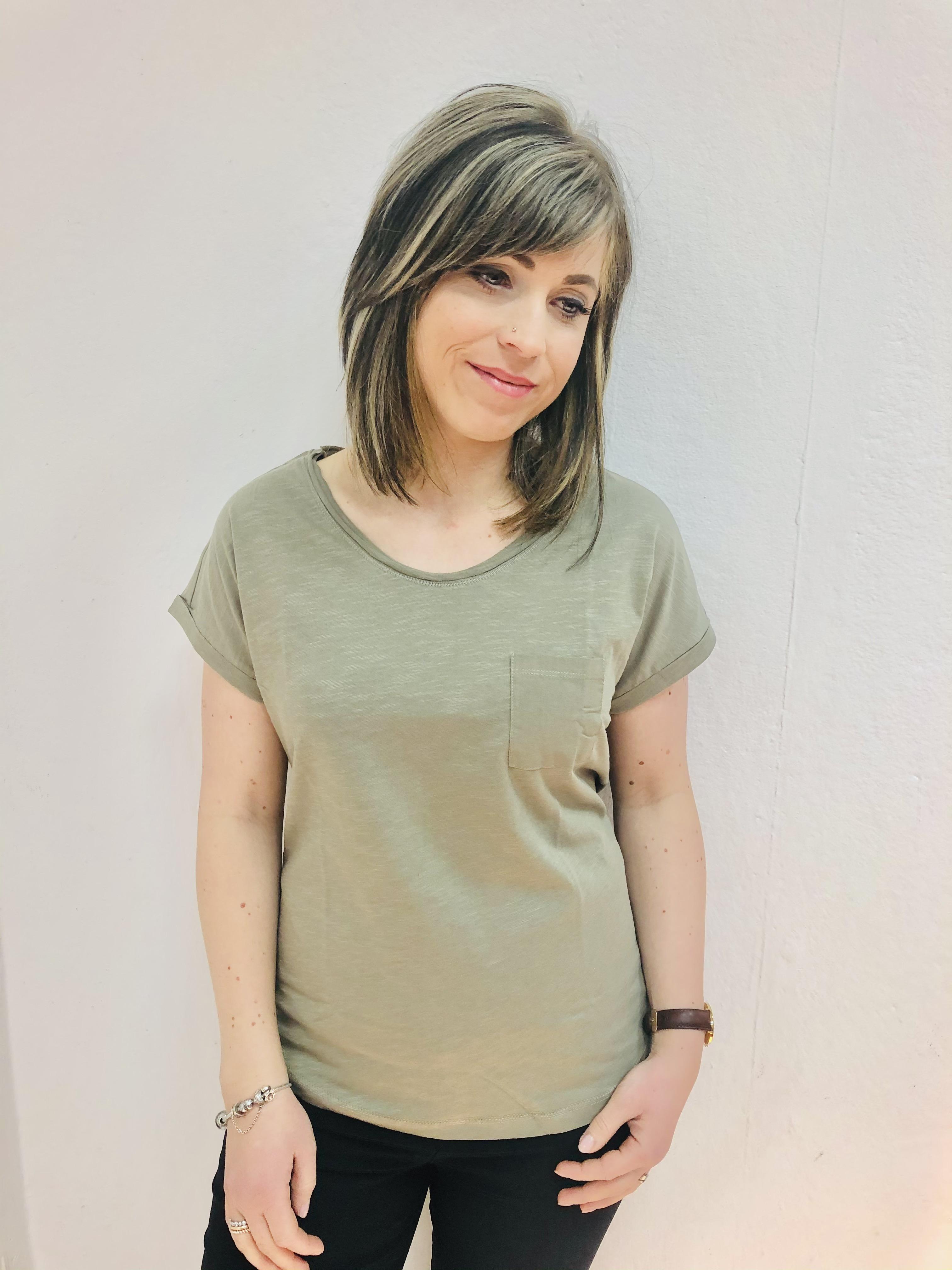 Basic Damenshirt Lilie khaki