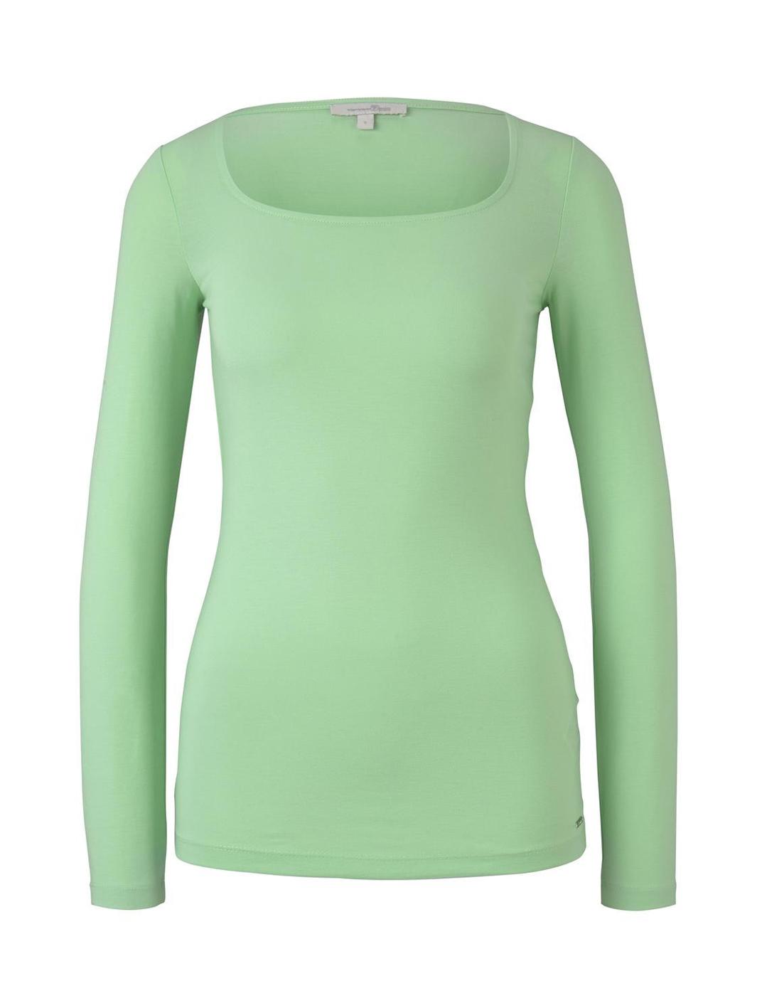 Tom Tailor Shirt mit Carree-Ausschnitt grün