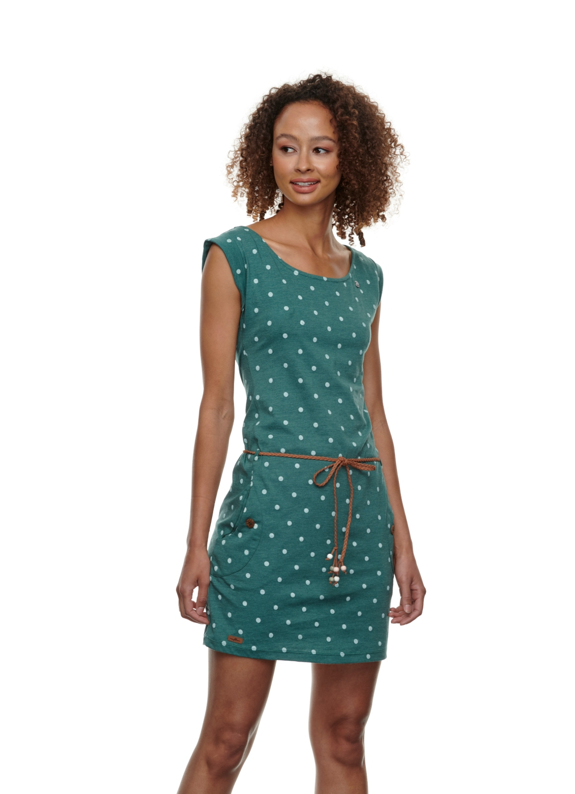 Ragwear Kleid Tag Dots dark green